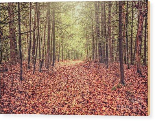 Before The Last Leaf Falls Wood Print