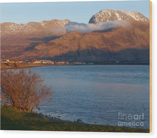 Ben Nevis From Corpach Wood Print by Phil Banks