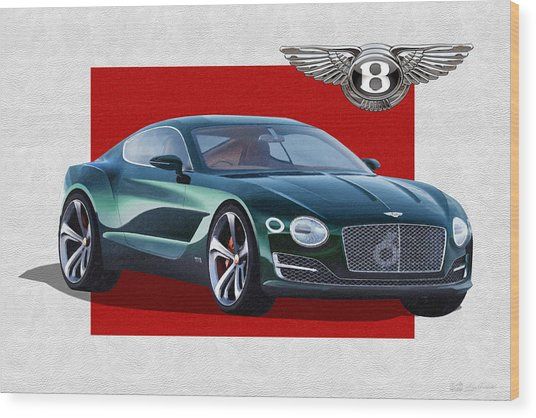 Bentley E X P  10 Speed 6 With  3 D  Badge  Wood Print