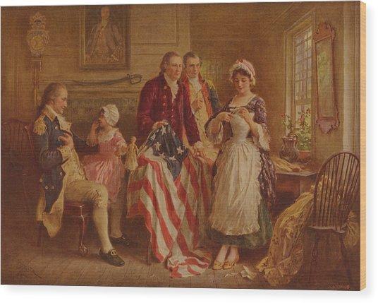 Betsy Ross, 1777 Wood Print
