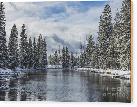 Big Springs In Winter Idaho Journey Landscape Photography By Kaylyn Franks Wood Print