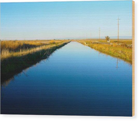 Biggs Canal Wood Print