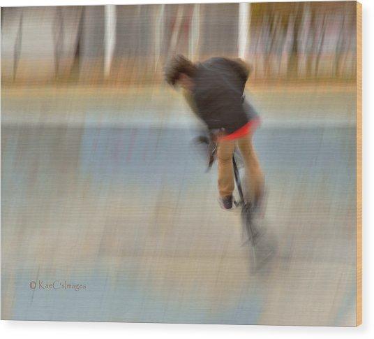 Biking  The Skateboard Park 4 Wood Print