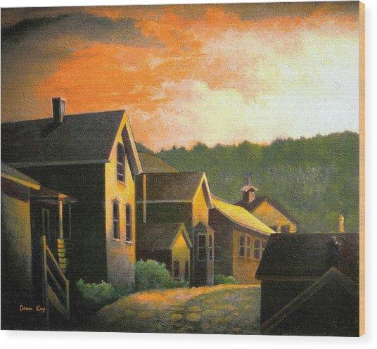 Blackhawk  Colorado Sunset Wood Print by Donn Kay