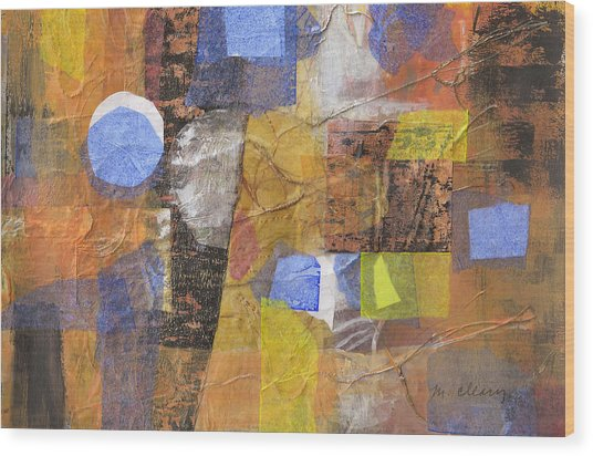Blended Fragments Wood Print by Melody Cleary