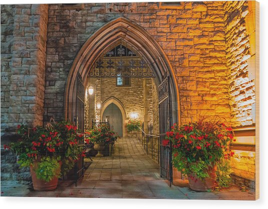 Blink Cincinnati - Covenant First Presbyterian Church Wood Print