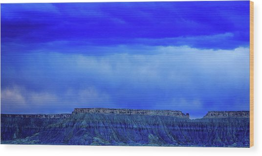 Blue Badlands Wood Print