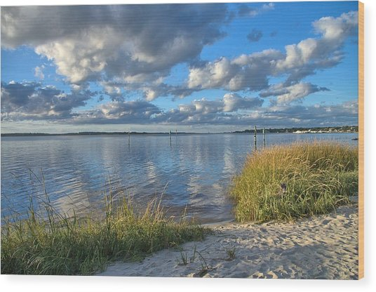 Wood Print featuring the photograph Blues Skies Of The Cape Fear River by Willard Killough III