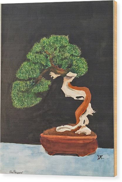 Bonsai-1 Wood Print