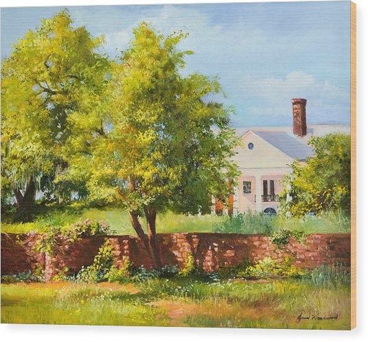 Boone Hall Plantation Wood Print by Jane Woodward
