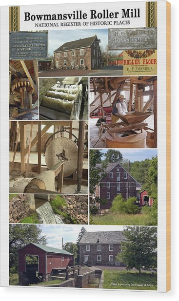 Bowmansville Roller Mill Wood Print