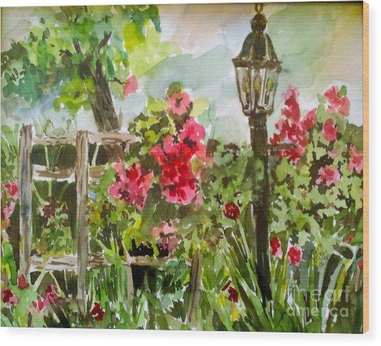 Brazos Gardens Wood Print