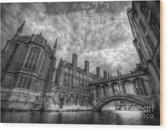 Bridge Of Sighs - Cambridge Wood Print