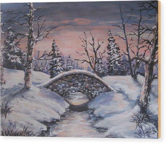 Bridge Of Solitude Wood Print