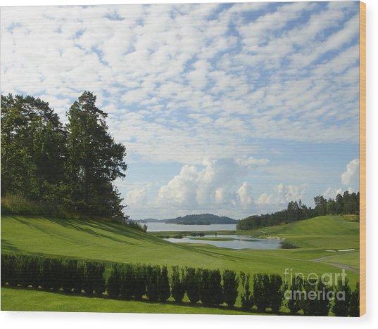 Bro Hof Slott Golf Club Sweden Wood Print