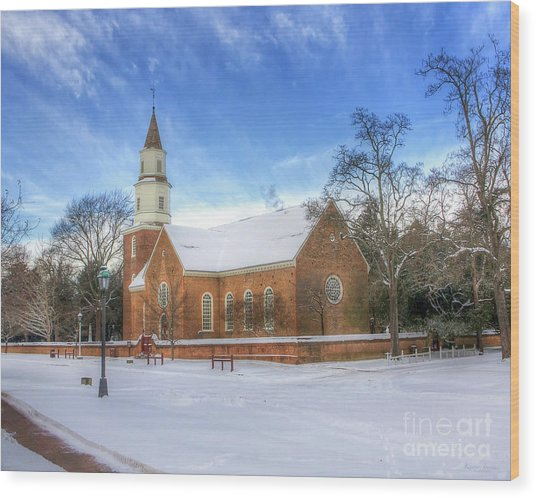 Bruton Parish In Winter II Wood Print