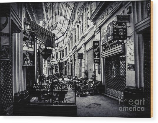 Monochrome Bucharest  Macca - Vilacrosse Passage Wood Print
