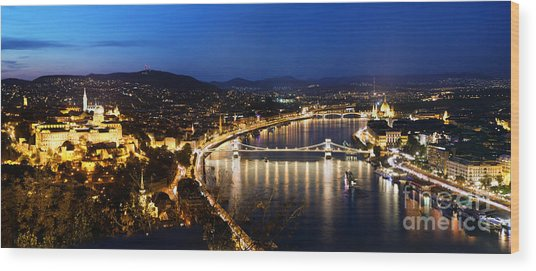 Budapest. View From Gellert Hill Wood Print