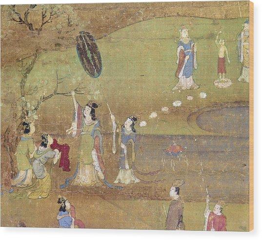Buddha: Birth Wood Print