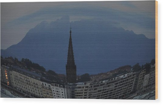 Buen Pastor Cathedral  Wood Print by Tara Miller