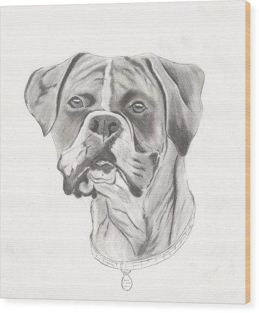 Buster Wood Print by Josh Bennett