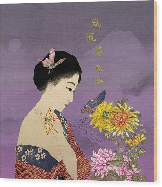 Butterfly Whisperer Wood Print