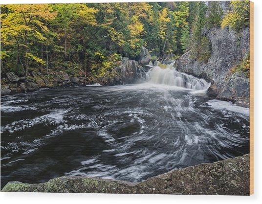 Buttermilk Falls Gulf Hagas Me. Wood Print
