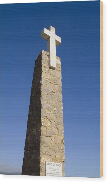 Cabo Da Roca Wood Print by Andre Goncalves