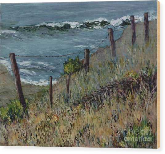 Cambria Coast Wood Print