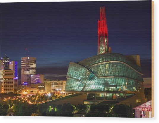 Canadian Museum For Human Rights Wood Print by Bryan Scott