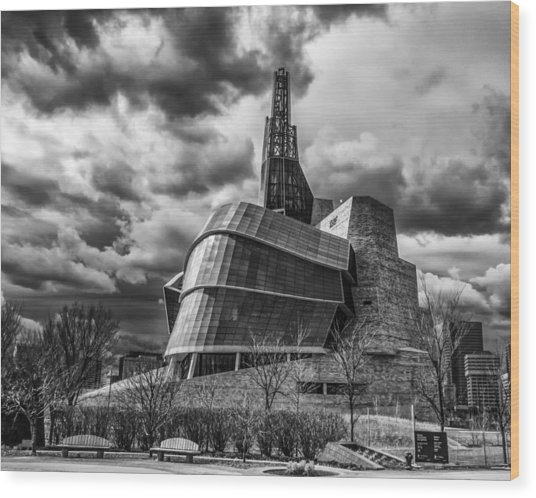 Canadian Museum For Human Rights Wood Print