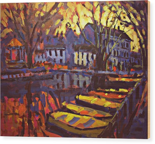 Canal Wood Print by Brian Simons