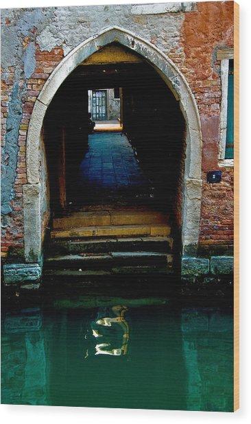Canal Entrance Wood Print