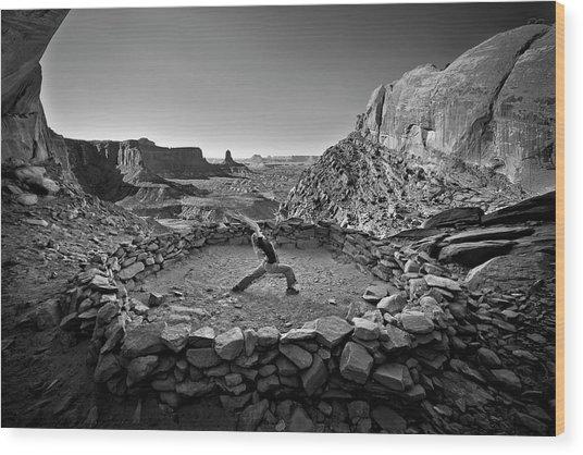 Canyonlands Kiva Wood Print