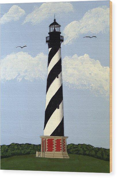 Cape Hatteras Lighthouse Wood Print