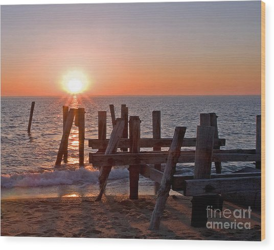 Cape May Sunset Wood Print