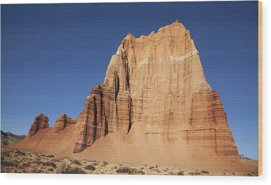 Capitol Reef National Park Temple Of The Sun Wood Print by Mark Smith