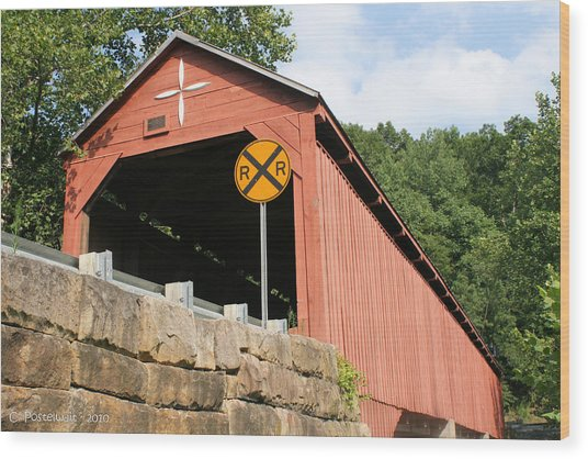Carrollton Covered Bridge Wood Print
