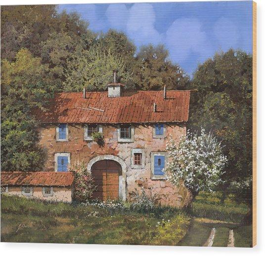 Casolare A Primavera Wood Print
