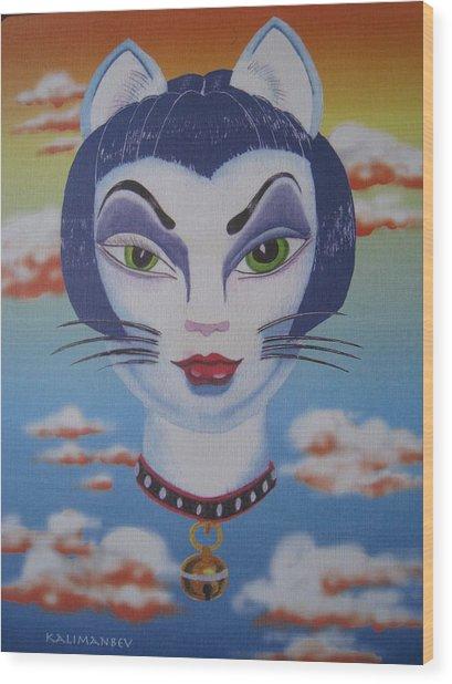 Cat Ho Wood Print by Roger Golden