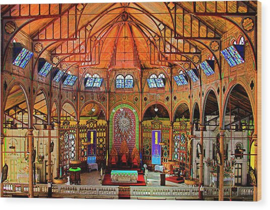 Cathedral-color- St Lucia Wood Print