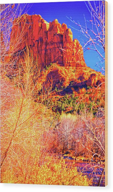Cathedral Rock Wood Print by Paul Kloschinsky