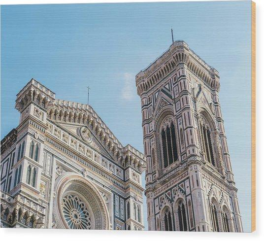 Cattedrale Di Santa Maria Del Fiore Is The Main Church Of Floren Wood Print