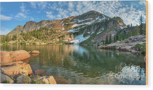 Wood Print featuring the photograph Cecret Lake by Spencer Baugh