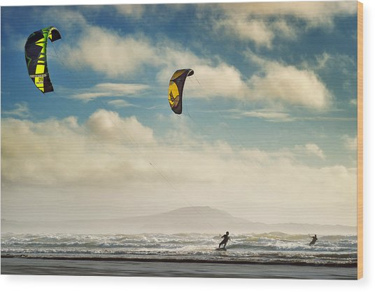 Cefn Sidan Beach 1 Wood Print