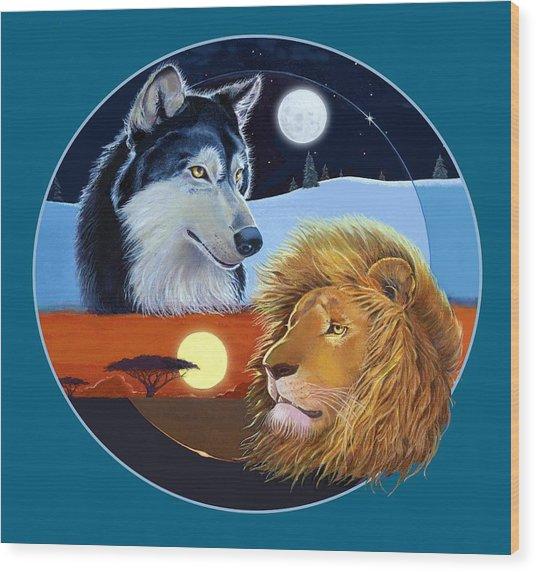 Celestial Kings Circular Wood Print