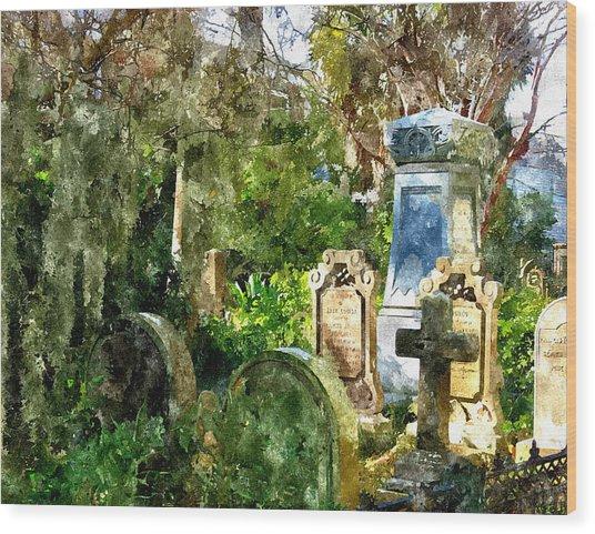 Charleston Graveyard Wood Print