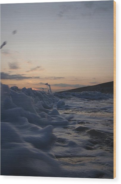 Chasing Dusk Wood Print