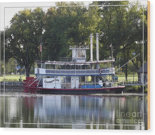 Wood Print featuring the photograph Chautauqua Belle On Lake Chautauqua by Rose Santuci-Sofranko