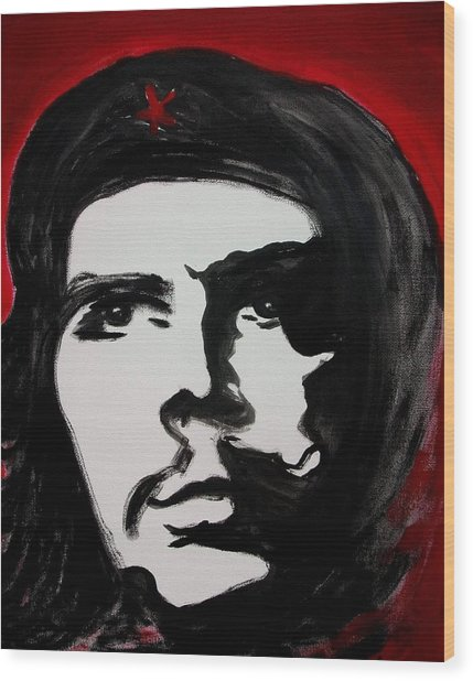 Che Wood Print by Jean Billsdon